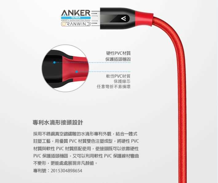 Anker PowerLine+Micro USB充電線(Android專用)-10000次以上暴力彎折測試