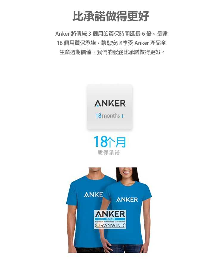 Anker PowerLine+Micro USB充電線(Android專用)-18個月保固