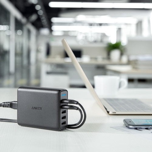 雙QC3.0渦輪增壓--Anker PowerPort Speed5口充電器(iphone/andriod)