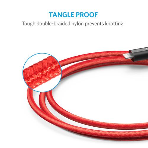 裝甲強度蘋果專用充電線--Anker PowerLine+Lightning USB充電線3ft / 0.9m (iphone)